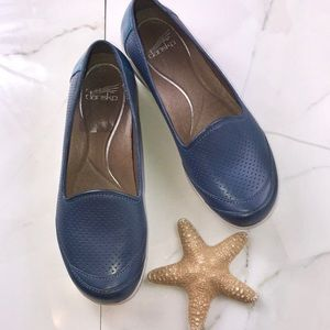 Dansko Marjorie Blue Veg slip on shoe for sale
